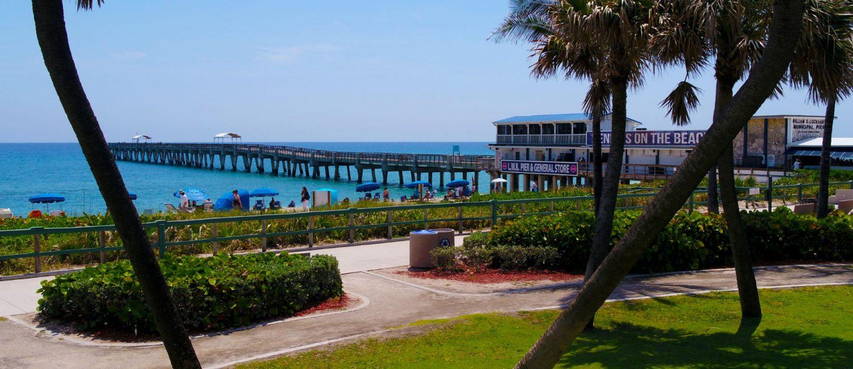 beach pier new drone shot.