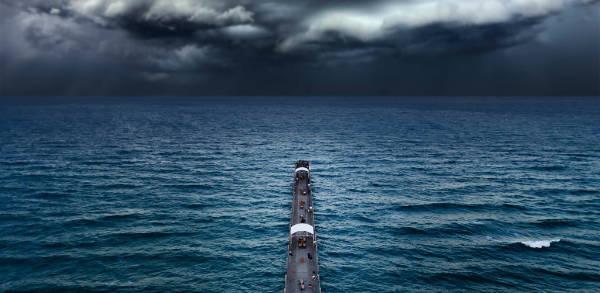 pier storm